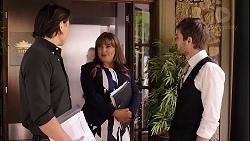 Leo Tanaka, Terese Willis, Ned Willis in Neighbours Episode 7899