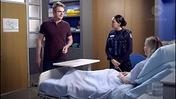 Gary Canning, Mishti Sharma, Sindi Watts in Neighbours Episode 7899
