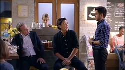 Paul Robinson, Leo Tanaka, David Tanaka in Neighbours Episode 7899
