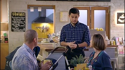 Toadie Rebecchi, David Tanaka, Sonya Mitchell in Neighbours Episode 7899