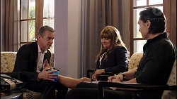 Paul Robinson, Terese Willis, Leo Tanaka in Neighbours Episode 7900