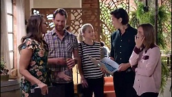 Dipi Rebecchi, Shane Rebecchi, Marisa Taylor, Leo Tanaka, Piper Willis in Neighbours Episode 7900