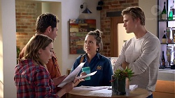 Piper Willis, Shane Rebecchi, Sonya Mitchell, Cassius Grady in Neighbours Episode 7904