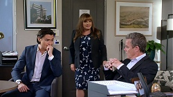 Leo Tanaka, Terese Willis, Paul Robinson in Neighbours Episode 7904