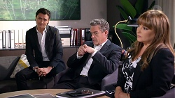 Leo Tanaka, Paul Robinson, Terese Willis in Neighbours Episode 7904
