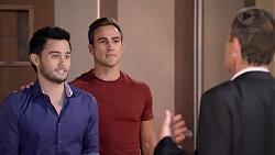 David Tanaka, Aaron Brennan, Paul Robinson in Neighbours Episode 7905