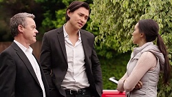 Paul Robinson, Leo Tanaka, Mishti Sharma in Neighbours Episode 7905