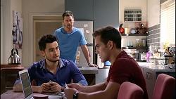 David Tanaka, Mark Brennan, Aaron Brennan in Neighbours Episode 7906