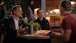 Paul Robinson, Mishti Sharma, Aaron Brennan in Neighbours Episode 7906