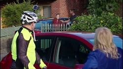 Karl Kennedy, Chloe Brennan, Mark Brennan, Sheila Canning in Neighbours Episode 7907
