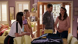 Bea Nilsson, Xanthe Canning, Mark Brennan, Elly Conway in Neighbours Episode 7909
