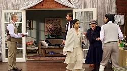 Toadie Rebecchi, Shane Rebecchi, Kirsha Rebecchi, Sheila Canning, Yashvi Rebecchi in Neighbours Episode 7909
