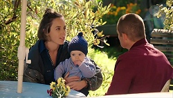 Sonya Mitchell, Hugo Somers, Toadie Rebecchi in Neighbours Episode 7912