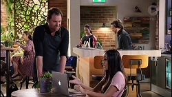 Gary Canning, Dipi Rebecchi, Mishti Sharma in Neighbours Episode 7914