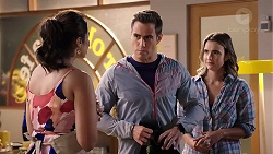 Dipi Rebecchi, Aaron Brennan, Amy Williams in Neighbours Episode 7915