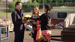 Dr Rob Carson, Amy Williams, Yashvi Rebecchi in Neighbours Episode 7917
