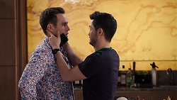 Aaron Brennan, David Tanaka in Neighbours Episode 7918