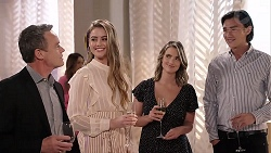Paul Robinson, Chloe Brennan, Amy Williams, Leo Tanaka in Neighbours Episode 7918