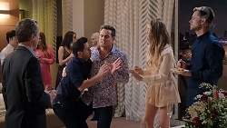 Paul Robinson, David Tanaka, Aaron Brennan, Chloe Brennan, Mark Brennan in Neighbours Episode 7918