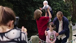 Annabel Rutherford, Sonya Mitchell, Hugo Somers, Nell Rebecchi, Toadie Rebecchi in Neighbours Episode 7919