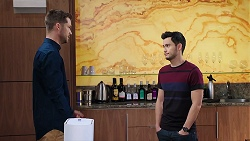 Mark Brennan, David Tanaka in Neighbours Episode 7919