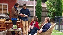 Shane Rebecchi, Mark Brennan, Sonya Mitchell, Toadie Rebecchi in Neighbours Episode 7919
