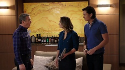 Paul Robinson, Amy Williams, Leo Tanaka in Neighbours Episode 7920