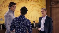 Leo Tanaka, David Tanaka, Paul Robinson in Neighbours Episode 7920