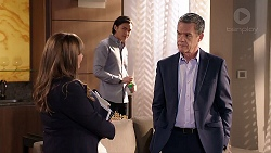 Terese Willis, Leo Tanaka, Paul Robinson in Neighbours Episode 7920
