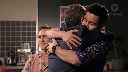 Aaron Brennan, Paul Robinson, David Tanaka in Neighbours Episode 7920