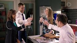 Fay Brennan, Mark Brennan, Chloe Brennan, Aaron Brennan in Neighbours Episode 7921