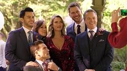 David Tanaka, Aaron Brennan, Fay Brennan, Amy Williams, Mark Brennan, Paul Robinson in Neighbours Episode 7921