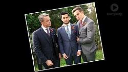 Paul Robinson, David Tanaka, Aaron Brennan in Neighbours Episode 7922