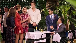 Fay Brennan, Chloe Brennan, Piper Willis, Cassius Grady, David Tanaka, Aaron Brennan in Neighbours Episode 7922