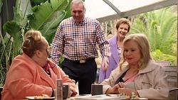 Jemima Davies-Smythe, Karl Kennedy, Susan Kennedy, Sheila Canning in Neighbours Episode 7926