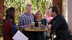 Dipi Rebecchi, Clive Gibbons, Sheila Canning, Shane Rebecchi in Neighbours Episode 7928