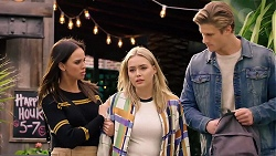 Bea Nilsson, Xanthe Canning, Cassius Grady in Neighbours Episode 7929