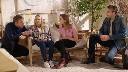 Gary Canning, Xanthe Canning, Piper Willis, Cassius Grady in Neighbours Episode 7929