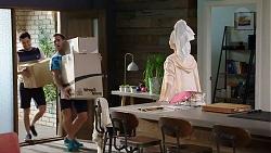David Tanaka, Aaron Brennan, Chloe Brennan in Neighbours Episode 7930