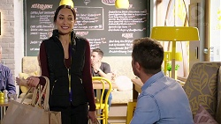 Mishti Sharma, Mark Brennan in Neighbours Episode 7930