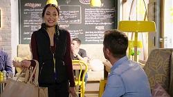 Mishti Sharma, Mark Brennan in Neighbours Episode 7930