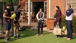 Ned Willis, Yashvi Rebecchi, Kirsha Rebecchi, Mishti Sharma, Toadie Rebecchi in Neighbours Episode 7930