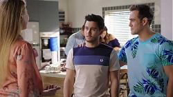 Chloe Brennan, Mark Brennan, David Tanaka, Elly Conway, Aaron Brennan in Neighbours Episode 7930