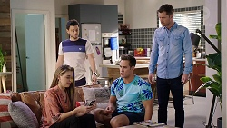 Chloe Brennan, David Tanaka, Aaron Brennan, Mark Brennan in Neighbours Episode 7930
