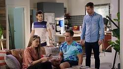 Chloe Brennan, David Tanaka, Aaron Brennan, Mark Brennan in Neighbours Episode 7930