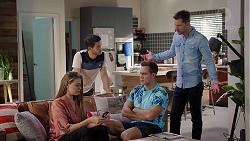 Chloe Brennan, David Tanaka, Aaron Brennan, Mark Brennan in Neighbours Episode 7931