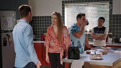 Mark Brennan, Chloe Brennan, Aaron Brennan, David Tanaka in Neighbours Episode 7931