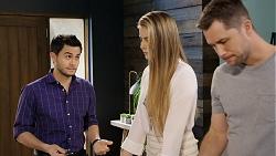 David Tanaka, Chloe Brennan, Mark Brennan in Neighbours Episode 7933