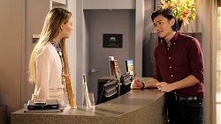 Chloe Brennan, Leo Tanaka in Neighbours Episode 7933