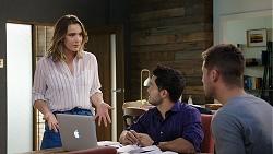 Amy Williams, David Tanaka, Mark Brennan in Neighbours Episode 7933